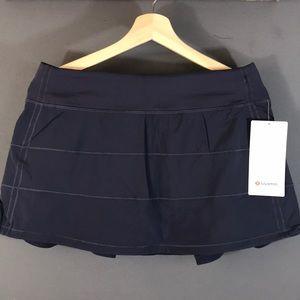 Lululemon pace rival skirt built in short
